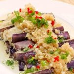 Steamed Egg Plant in Garlic Sauce