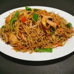 Famous Chow Mein with Green Onion in Soya Sauce