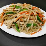 Udon Noodle with Chicken or Beef  in Black Pepper Sauce